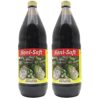Noni-Saft Direktsaft in Glasflasche Juice Fidschi-Morinda Citrifolia L. 2 Liter