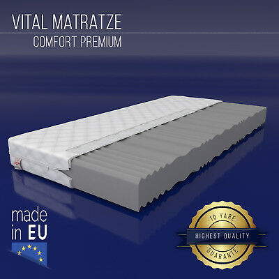 Matratze COMFORT Premium 140x200 cm 7 Zonen H3 Marken Kaltschaum Wellness NEU