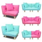 Corner Kid Sofa Children Furniture Floor Chair Lounge Cushion W Cushion