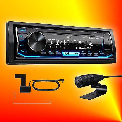 JVC KD-X451 DBT DAB+ Autoradio Antenne Bluetooth Freisprechfunktion Vario Color
