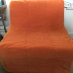 ikea orange chair covers toro lounge lycksele foldable bed cover only sofas