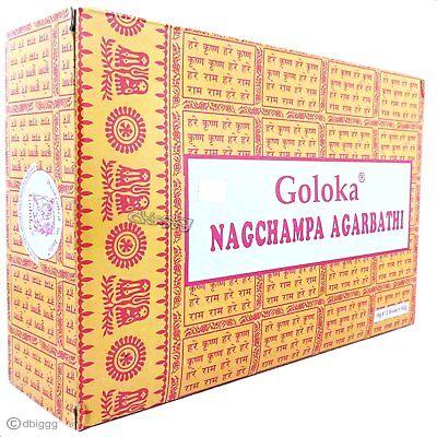 Nag Champa die Gelben von Goloka BIG PACK 12 x 16 g Duftstäbchen Räucherstäbchen