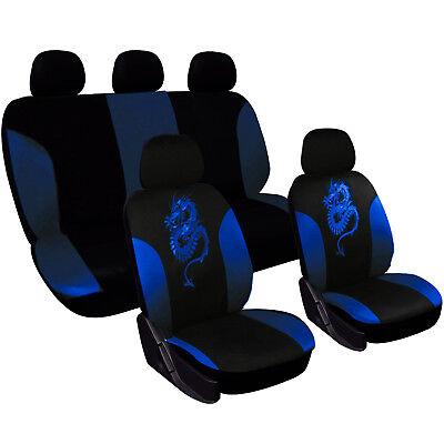 Auto Sitzbezug Sitzbezüge Drachen Schonbezug Set für PKW ohne Seitenairbag 7212