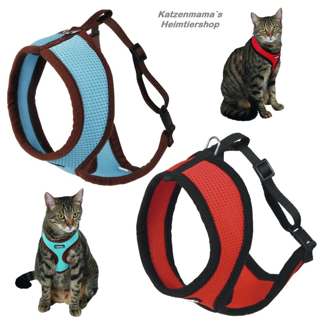 Katzengeschirr mit Leine Katzengarnitur hoher Tragekomfort Softgeschirr