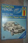 1987-1994 TOYOTA TERCEL SERVICE MANUAL SHOP BOOK 88 89 90 91 92 93 HAYNES