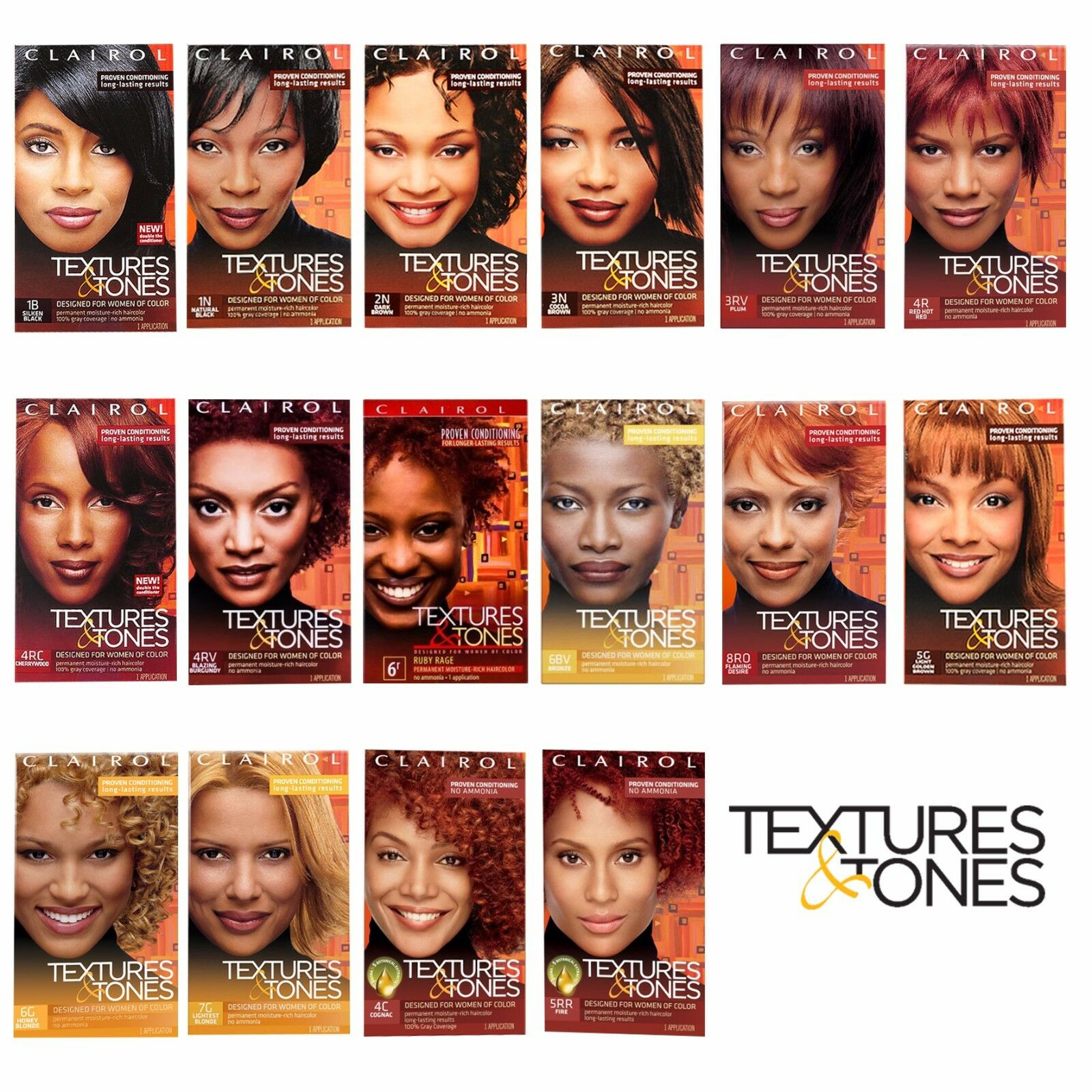 CLAIROL TEXTURES AND TONES PERMANENT HAIR COLOR DYE KIT