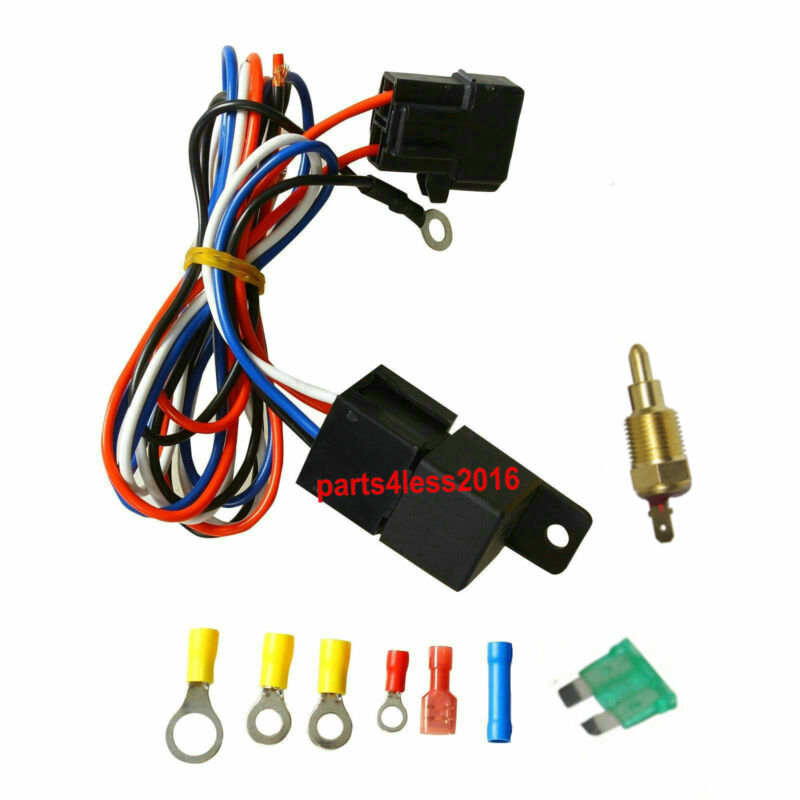 universal 30 amp cooling relay wiring kit temperature control for -  universal dual fan relay wiring