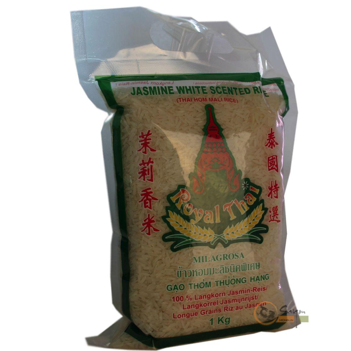 1kg Royal Thai Langkorn Duftreis Jasminreis thailändischer Jasmin Reis Milagrosa