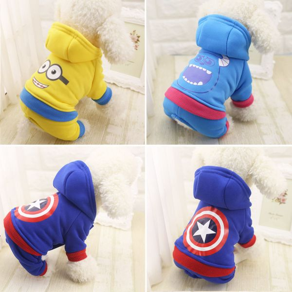 Small Pet Hoodie Sweater Coat Jacket Puppy Dog Cat Warm Costume Apparel Clothes 5