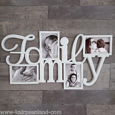 Bilderrahmen Family 3D Fotorahmen Galerierahmen weiß Collage Bildergalerie Foto