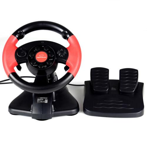 Lenkrad Steuerrad Pedale Bremspedale Gas Vibration Feedback PC PS2 PS3 USB