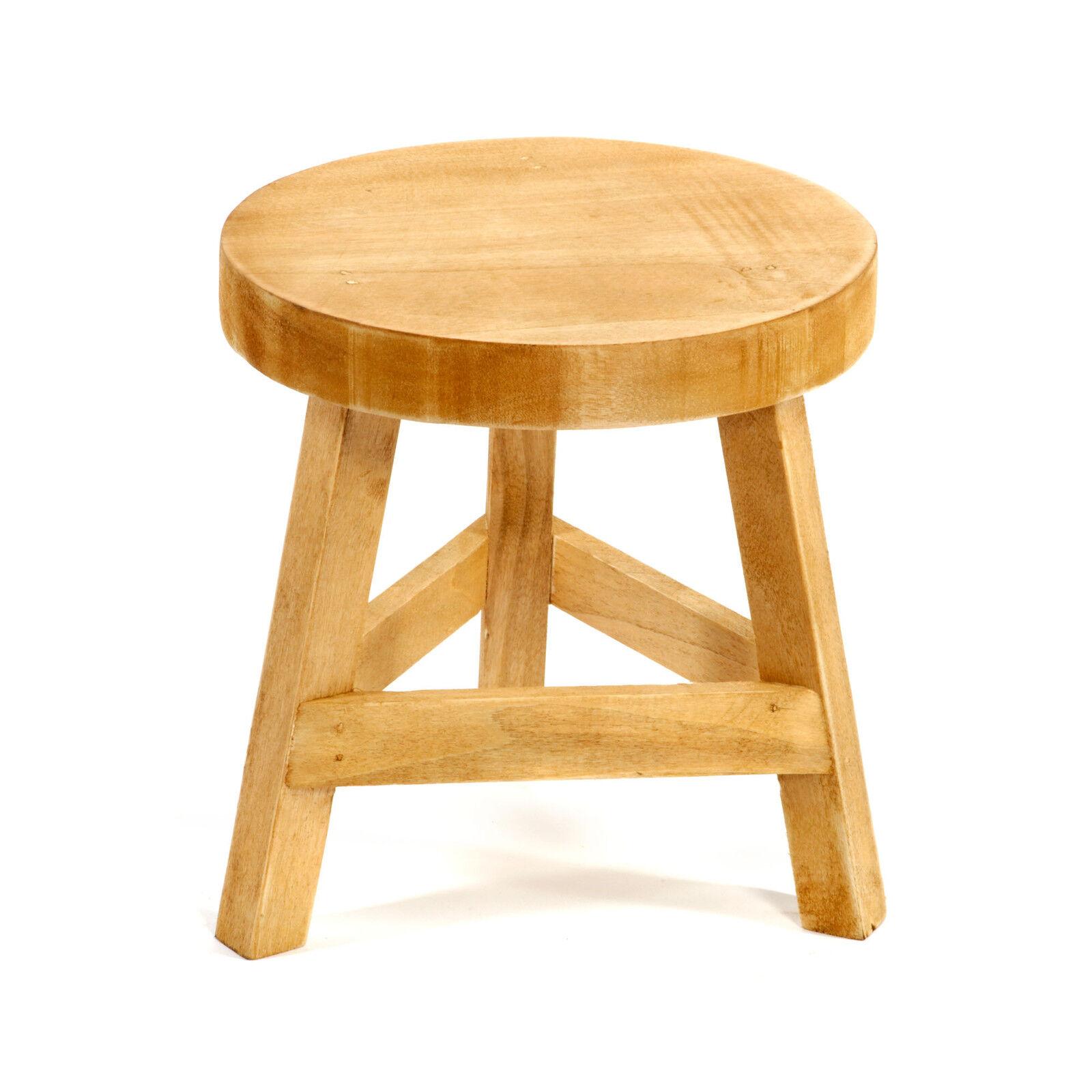 3 legged chair back design names shabby chic wooden three stool 23cm high home