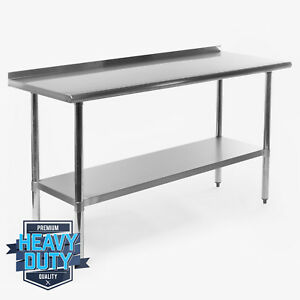metal kitchen tables free standing islands stainless steel table ebay restaurant work prep with backsplash 24