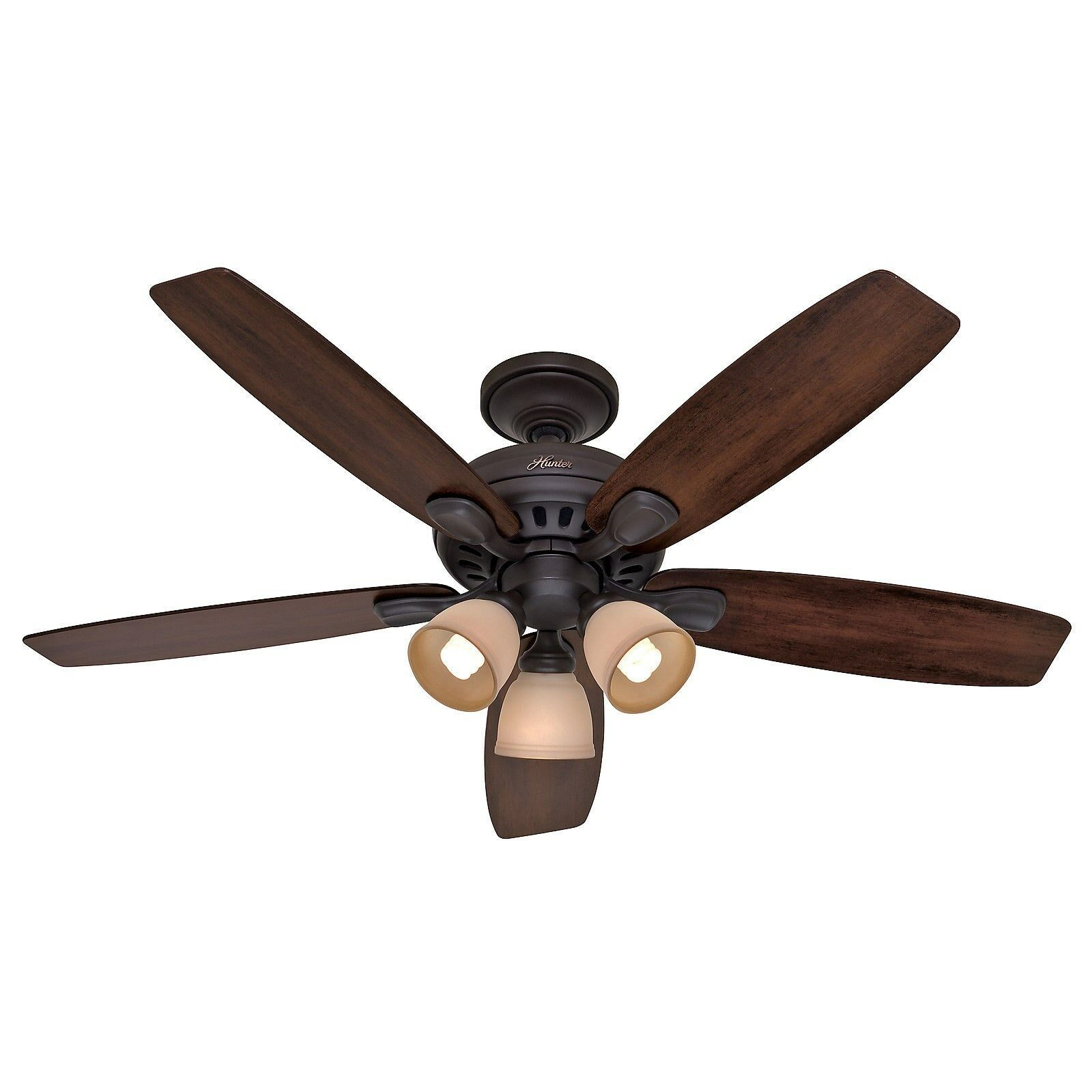 Hunter 52 in New Bronze Ceiling Fan with Light  Remote Control  eBay