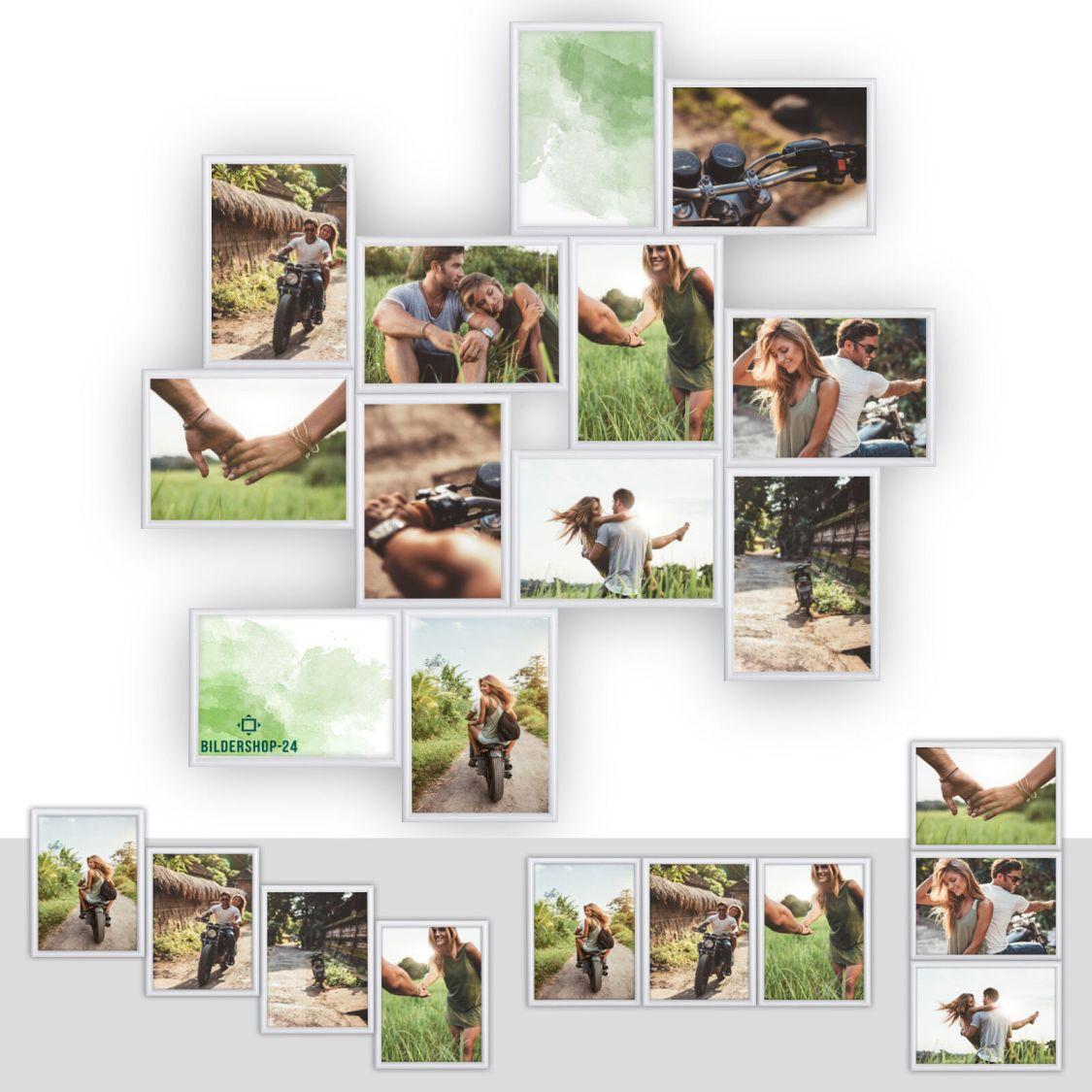 Kunststoff Bilderrahmen Fotorahmen Collage zum individuellen gestalten Weiß