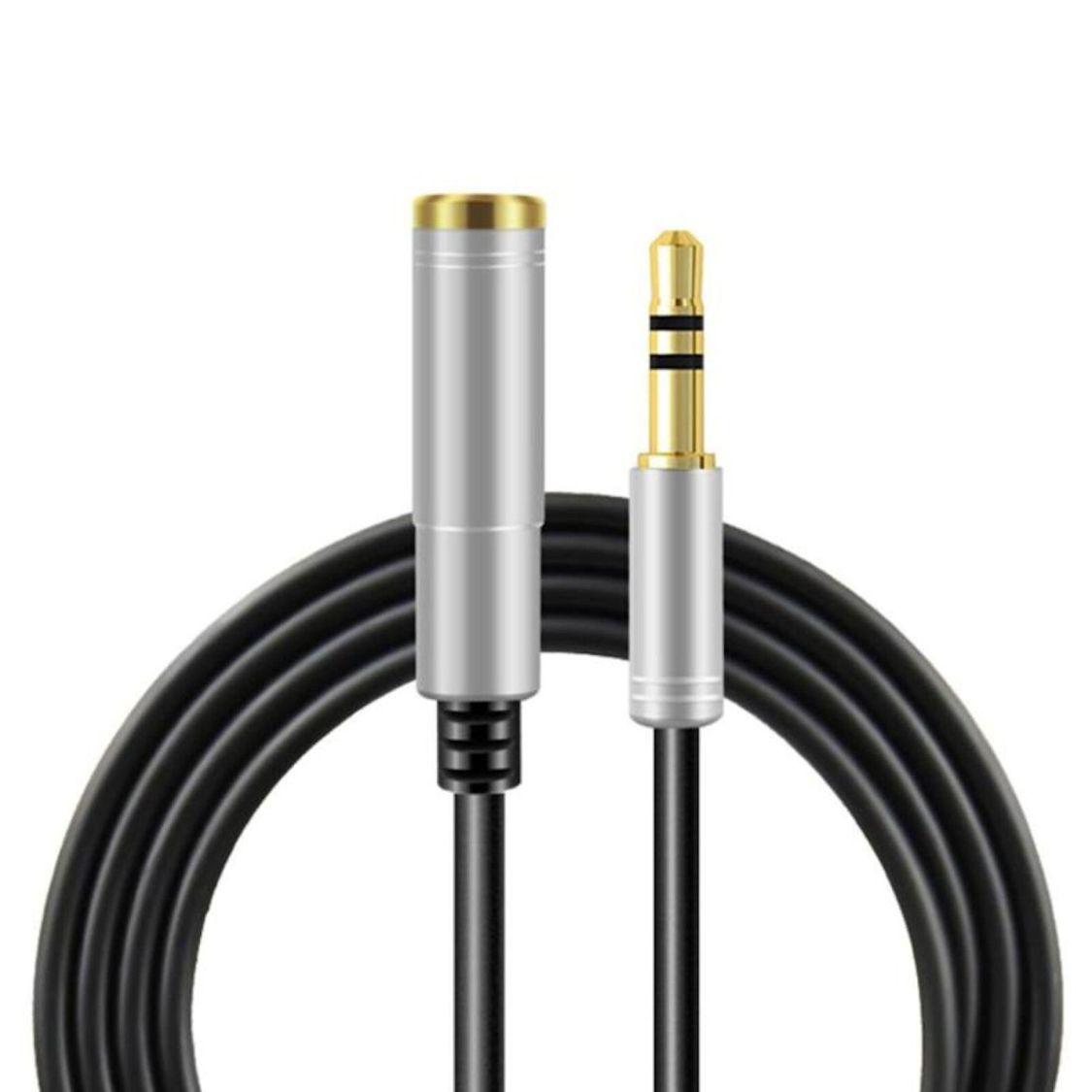 5m Audio Stereo Kopfhörer Verlängerungskabel 3,5mm Klinke Stecker > Buchse Silbe