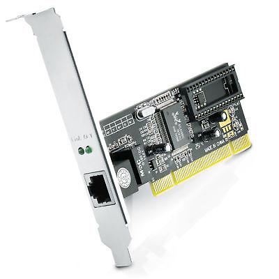 CSL PCI Gigabit Netzwerkkarte | 10/100/1000 Mbit/s | Lan / Fast Ethernet