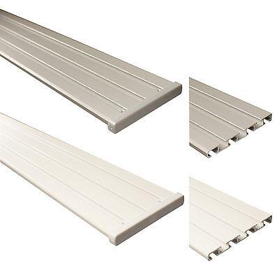 Aluminium Gardinenschiene Vorhangschiene Flächenvorhangschiene 3 o. 4-läufig