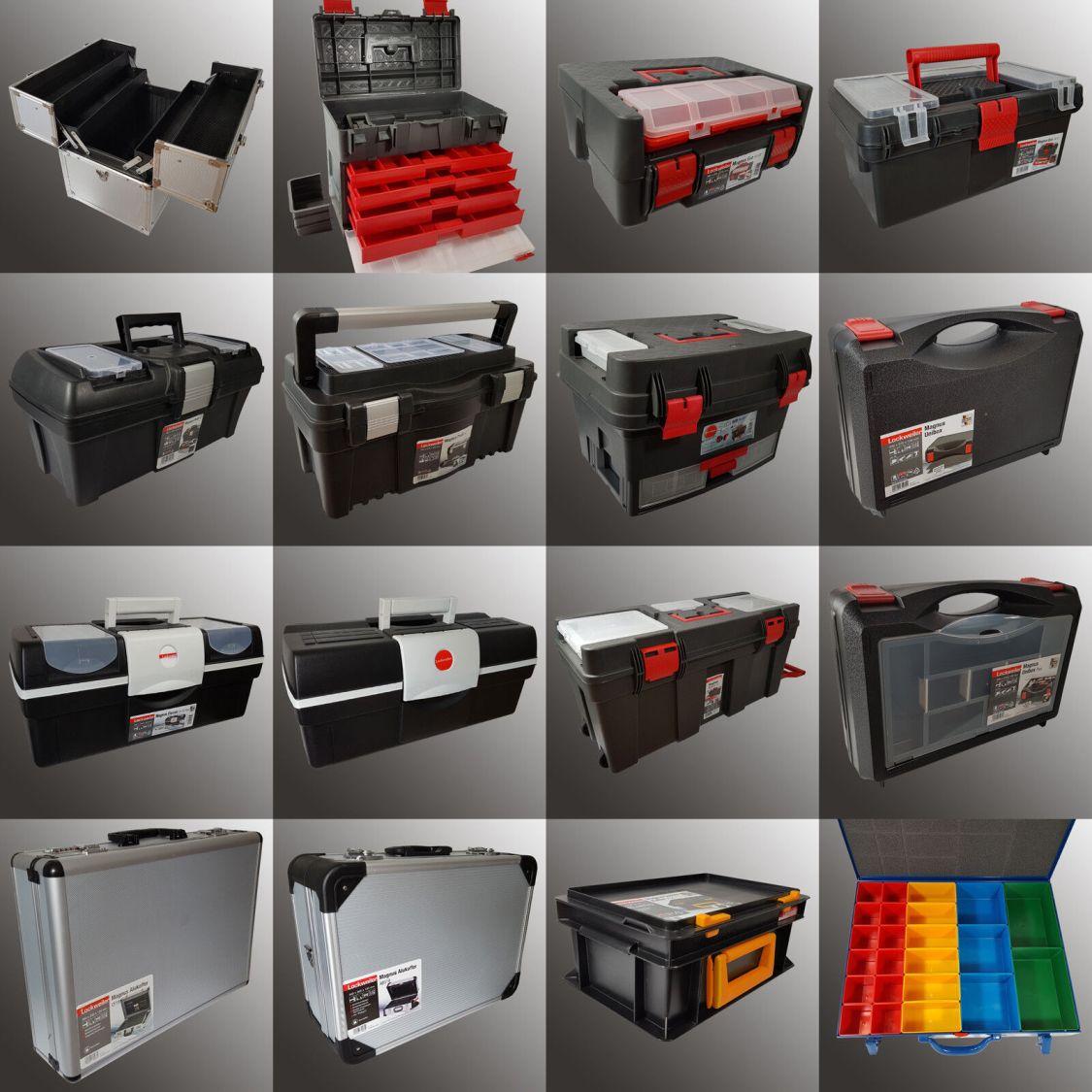 Werkzeugkoffer leer Werkzeugkiste Maschinenkoffer Alu Metall Koffer Trolley