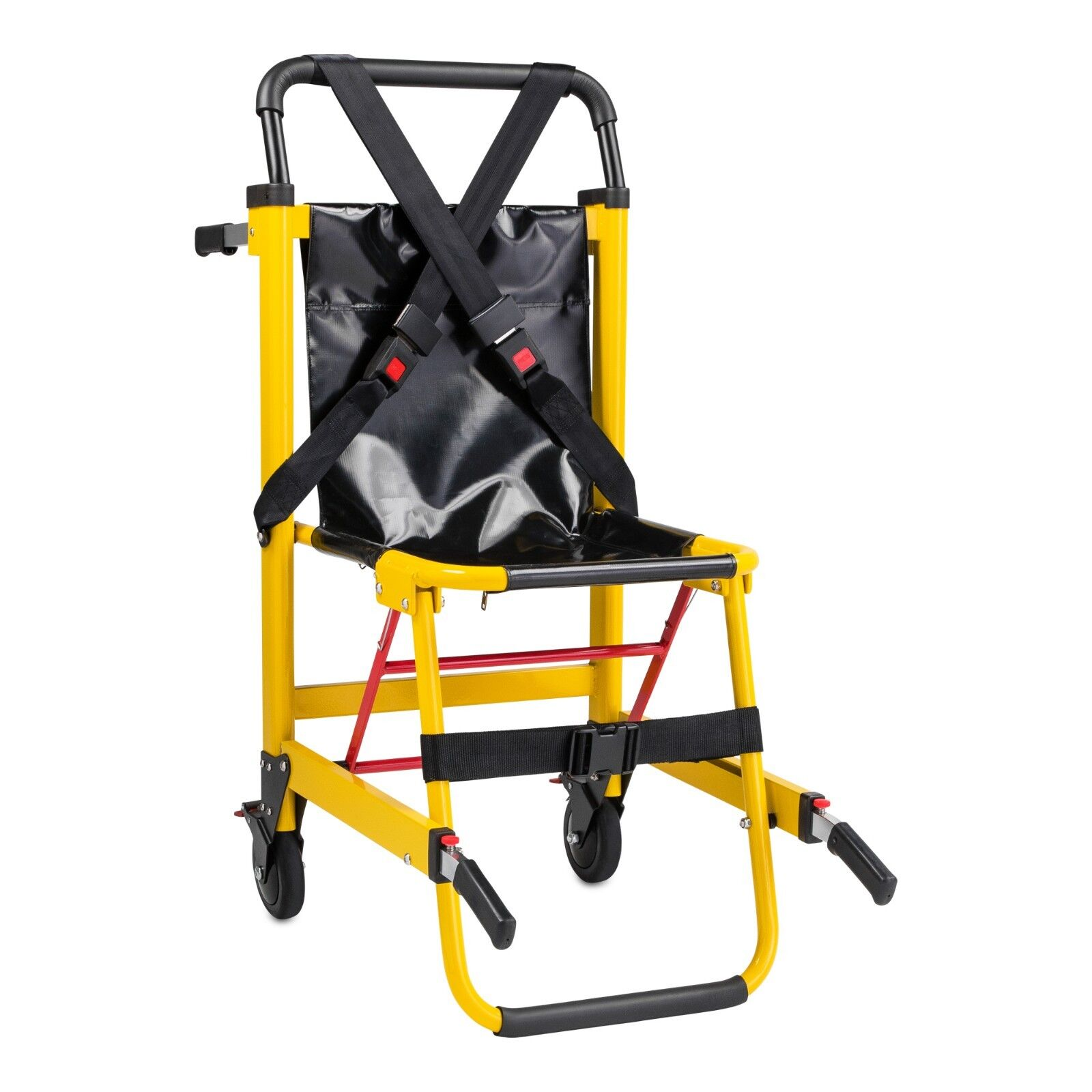 ems stair chair single bed medical emergency 2 wheel patient deluxe details about evacuation
