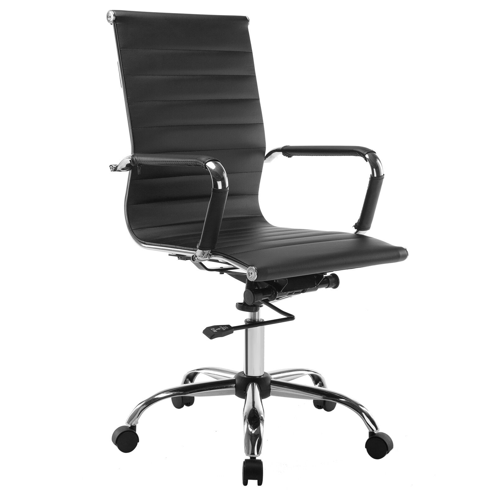 black leather office chair high back fisher price potty ergonomic executive task computer modern pu
