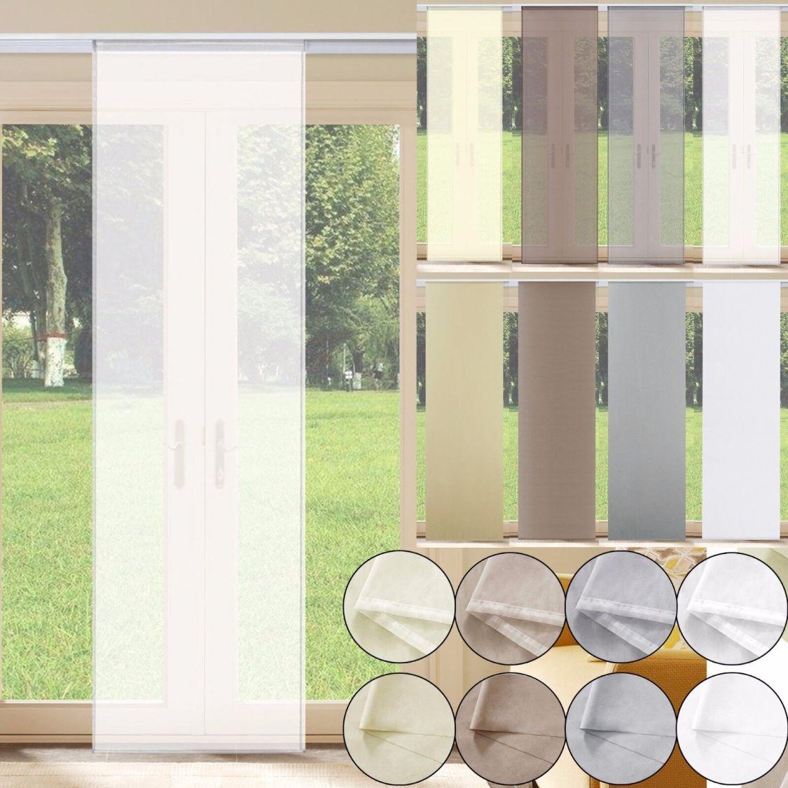 Schiebevorhang Schiebegardine transparent o. Blickdicht Flächenvorhang Gardine