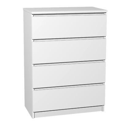 Kommode mit 4 Schubladen Sideboard weiß Anrichte holz Schrank Anrichte