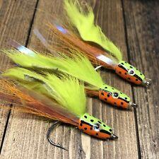 Fire Tiger Perch Bass Walleye Streamer Snook Fishing Bait Rig Flies 2/0 145ADE   eBay