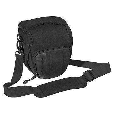 SLR Kameratasche Schultertasche Fototasche Umhängetasche Regenschutz, M schwarz