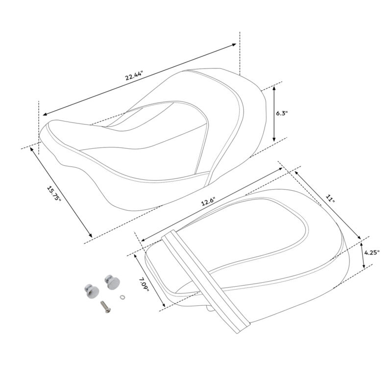 Low-Profile Seat Set Fit For Harley Touring Road Glide