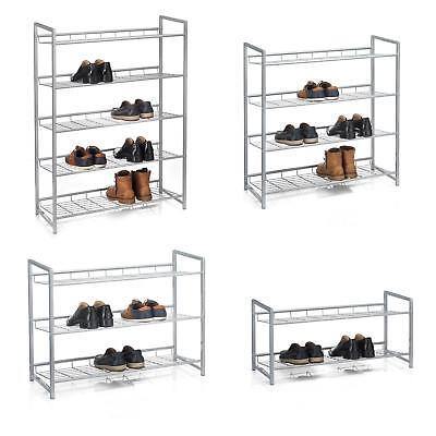 Schuhregal Schuhablage Schuhbank Ständer Aufbewahrung silber lackiert 4 Größen