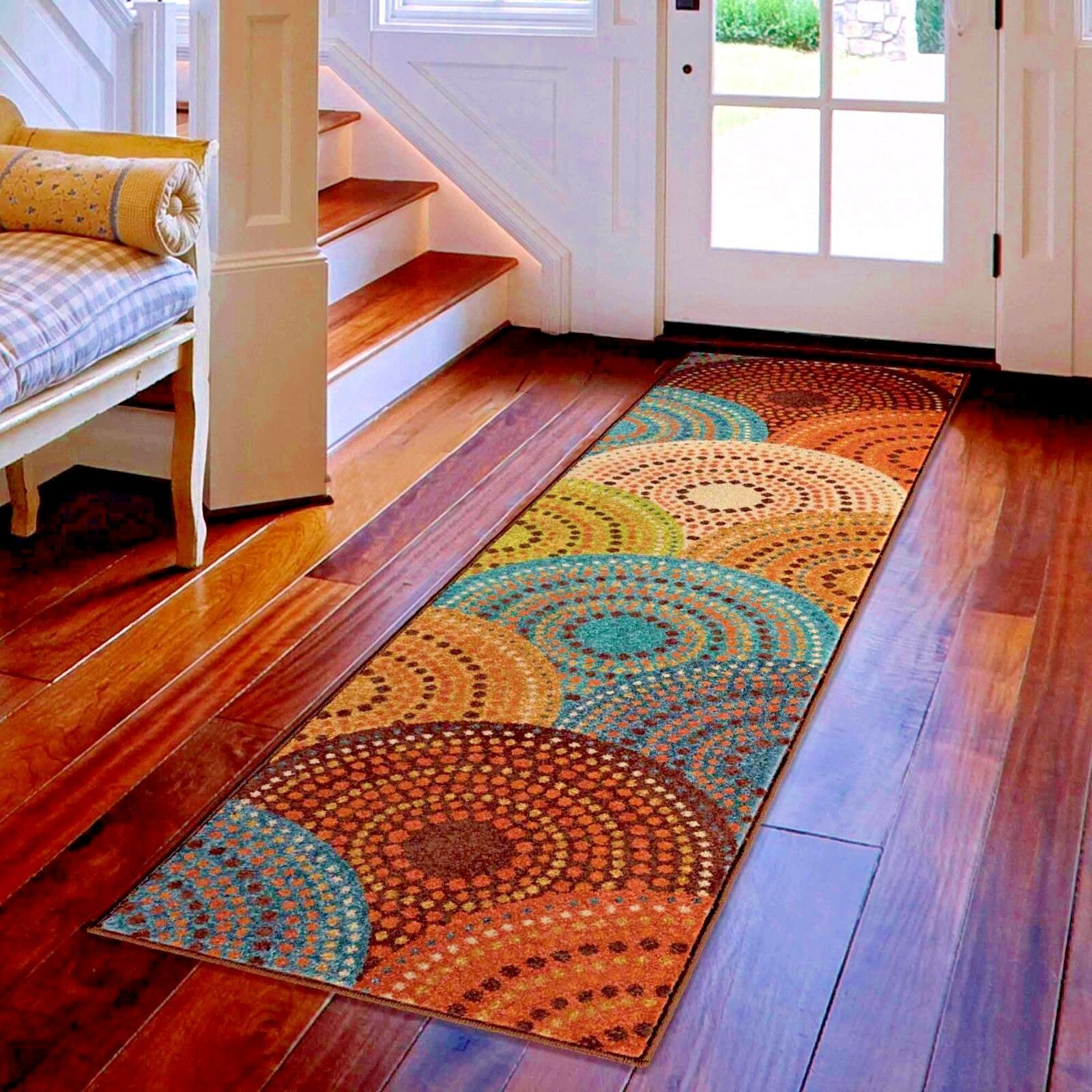 kitchen rug runners red backsplash runner rugs carpet area hallway cool colorful details about