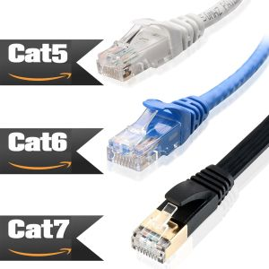 6ft 10ft 25ft 50ft 100ft Ethernet Network Lan Cable Cat5e CAT6 Cat-7 1000Mbps US
