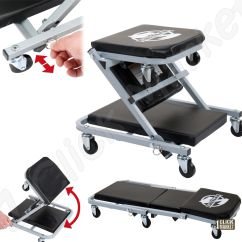 Rolling Chair Parts Cherry Dining Chairs Mechanics Creeper Seat Car Repair Foldable
