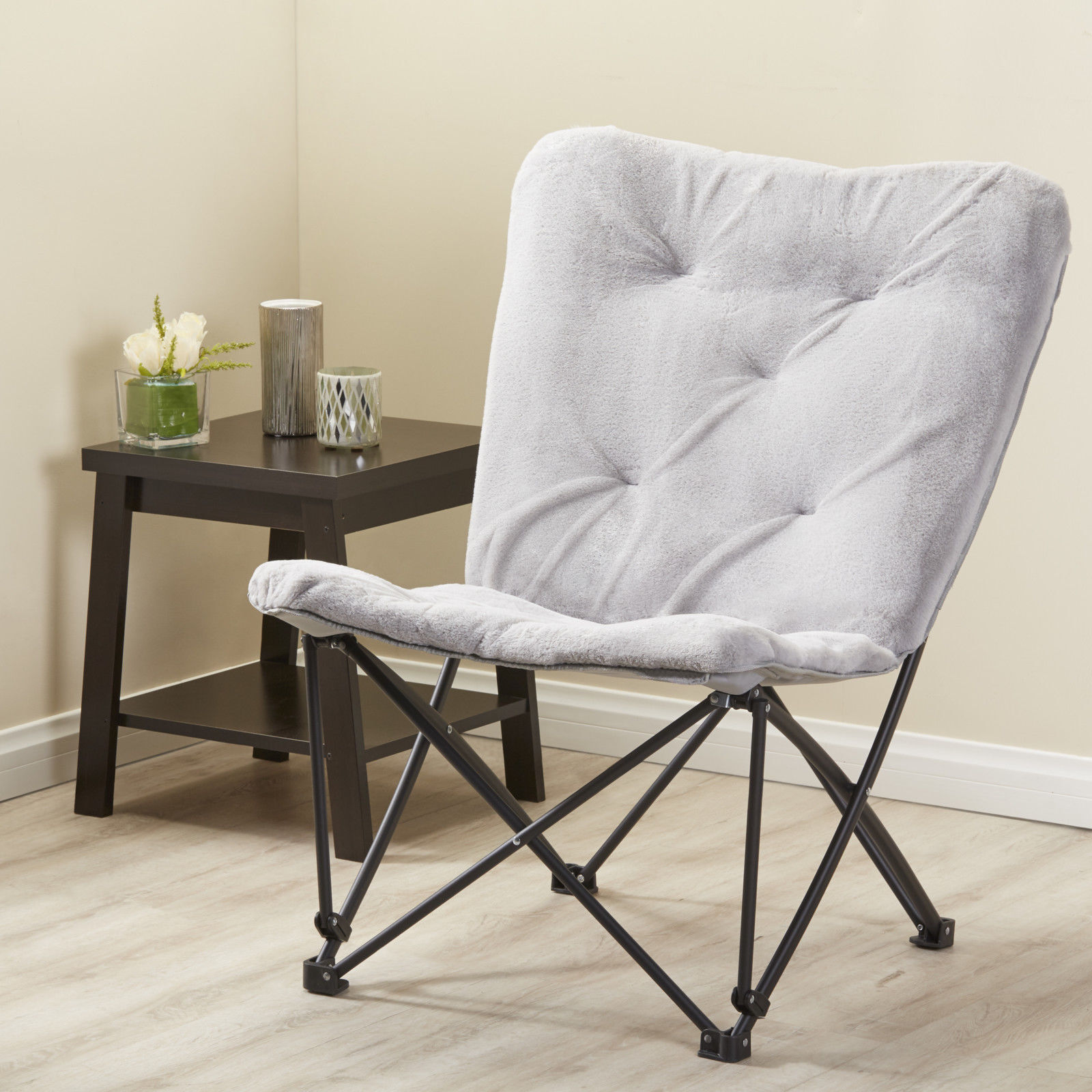 Butterfly Folding Chair Mainstays Memory Foam Folding Butterfly Lounge Chair Silver Color
