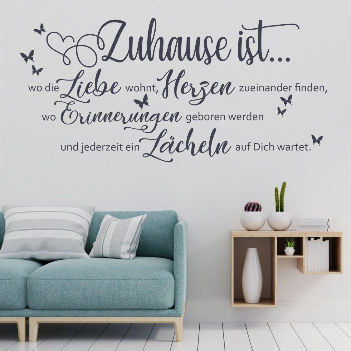 Wandtattoo Wandsticker Wandaufkleber Zuhause ist Liebe Familie Flur WT148
