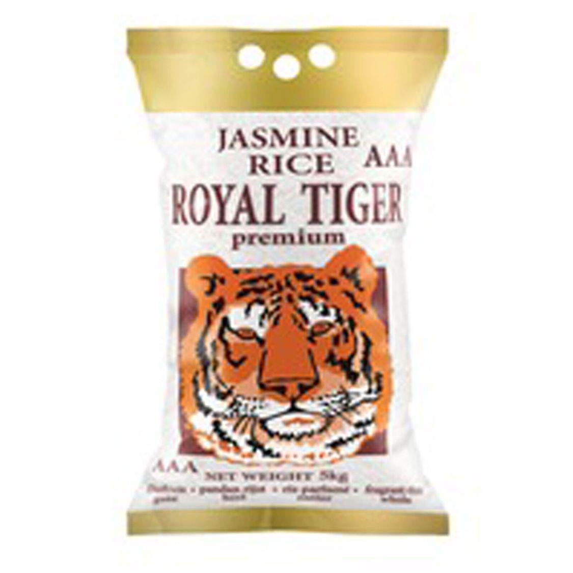 5kg Royal Tiger Duftreis Jasminreis Premium Qualität AAA Reis Jasmin Reis ganz