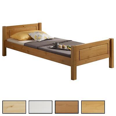 Holzbett Einzelbett Doppelbett Landhausbett Kiefer in 4 Farben und 6 Größen