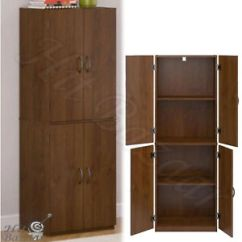 Furniture Kitchen Pantry Trailer Ebay Cabinet Storage Wood Tall Organizer Adjustable Shelves