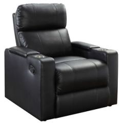 Theater Living Room Furniture Remodeling Leather Seat Lounge Sofa Recliner Rocker Home Stock Photo
