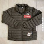 New TNF The North Face Men Flare 550 Down RTO Jacket Supreme Taupe Green Size L
