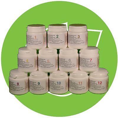 SCHÜSSLER SALZ SET 1 (1-12)12 x 400 Tabletten glutenfrei PZN 08000212