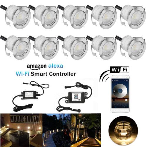 10er Set WIFI Kontroller LED Einbaustrahler Außenlampe Beleuchtung Terrasse Spot