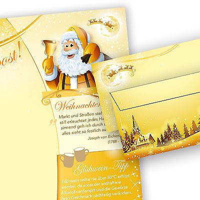 Briefpapier Weihnachten Motiv WEIHNACHTSPOST Weihnachtsbriefpapier beidseitig