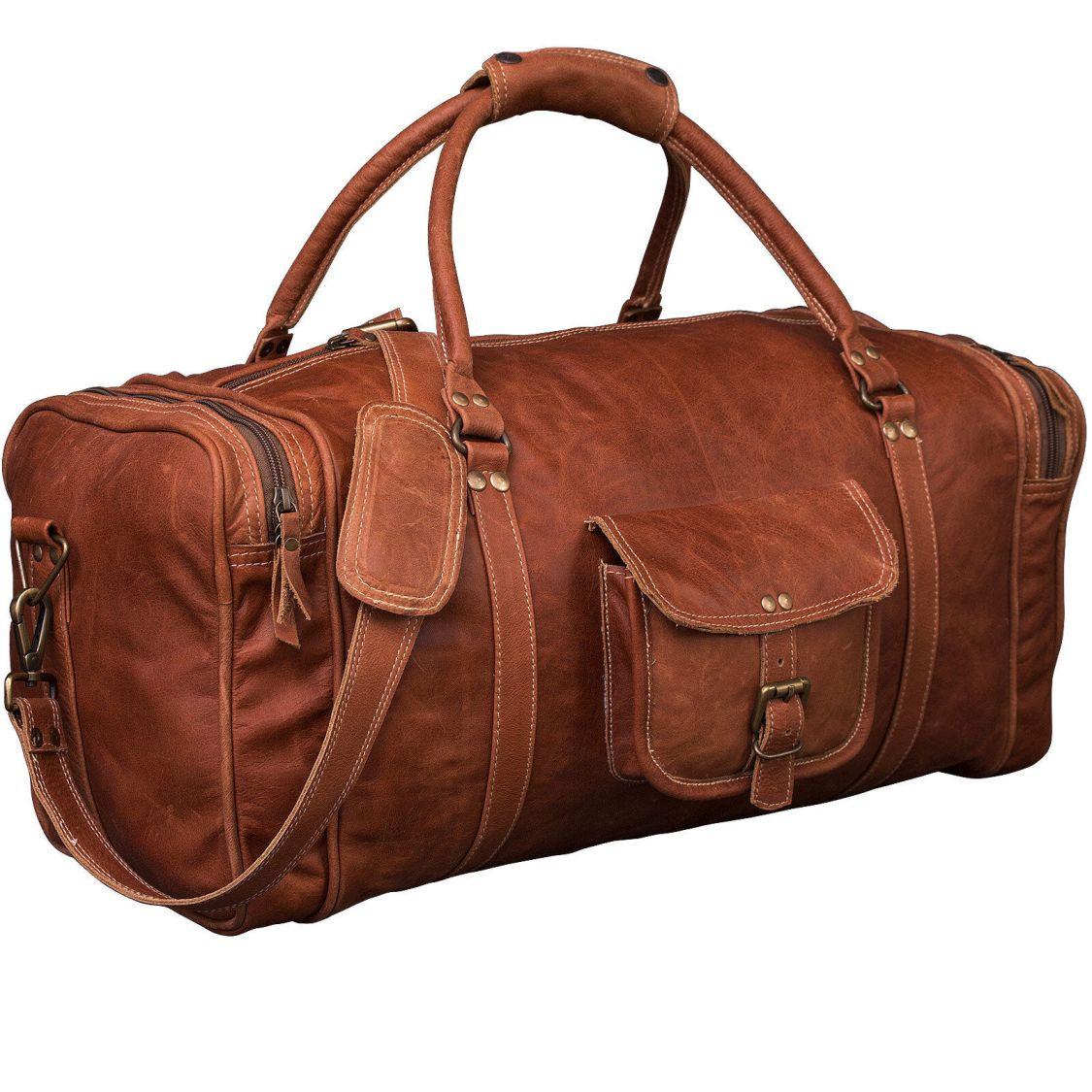Reisetasche Inspiratio™ ARTHUR Naturleder Weekender Sporttasche Handgepäck B1