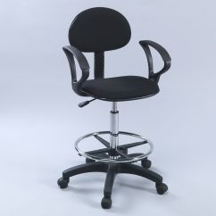 Ergonomic Drafting Chair With Arms Swinging Outdoor Counter Height Economy Office W Ebay