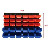 30 Pcs Plastic Bins Wall Mounted Storage Garage Tools ...