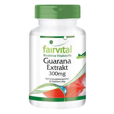 Guarana 1200mg 90 Tabletten - vitalisierend - vegan -  fairvital