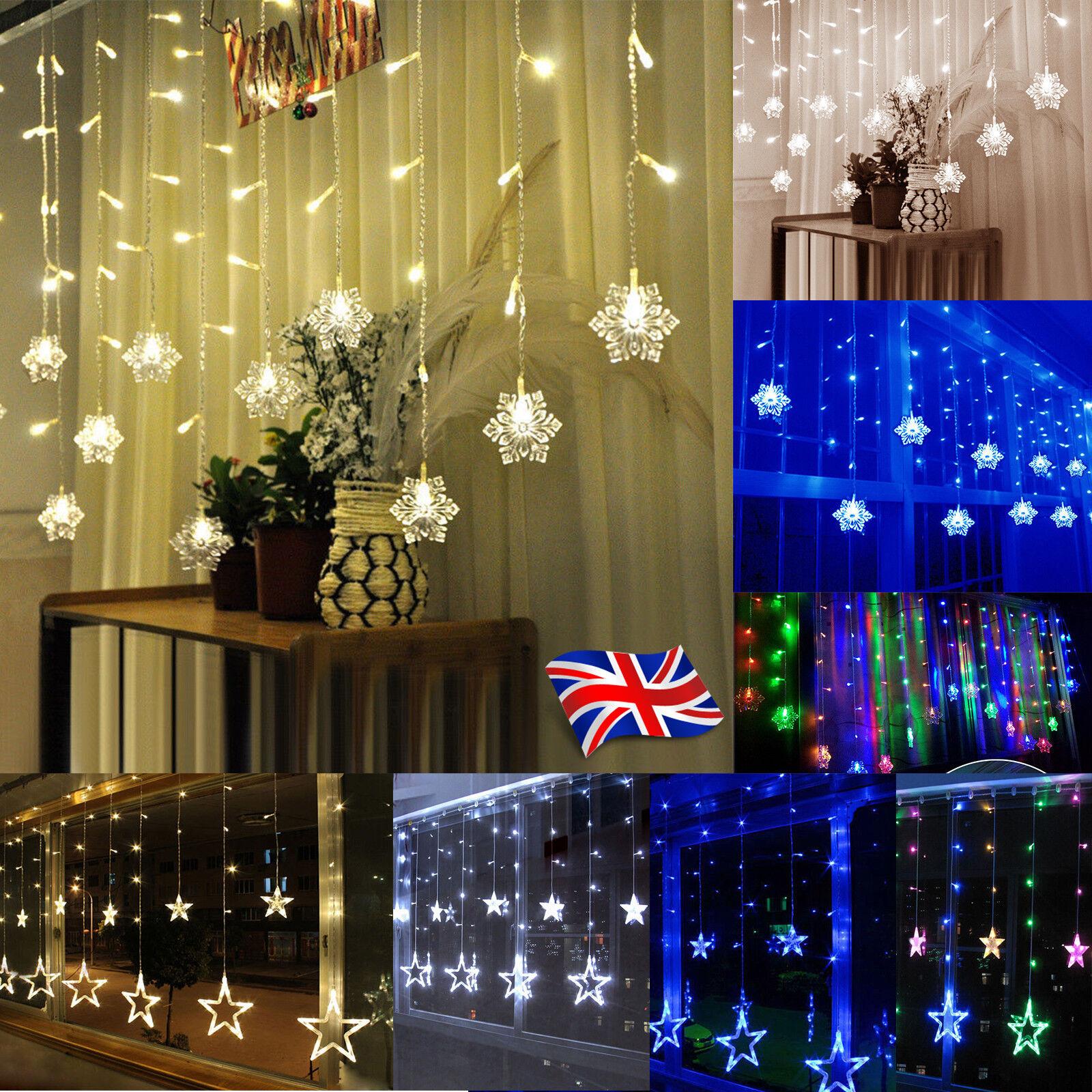Fenster Vorhang Led Led Fenstervorhang Star Lights