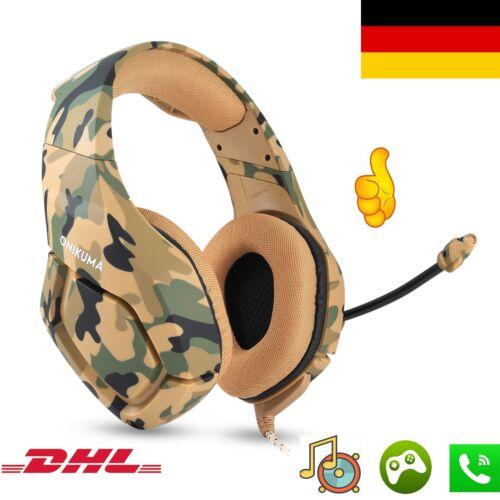 Gaming Kopfhörer PS4 Headset Camouflage für Xbox/PC/Mac/iPad/Smartphone Braun ET